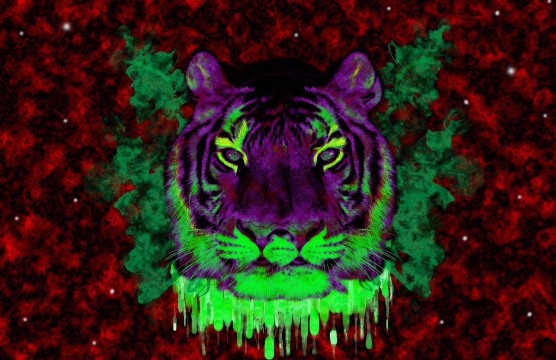 The trippy tiger for Trippy house music
